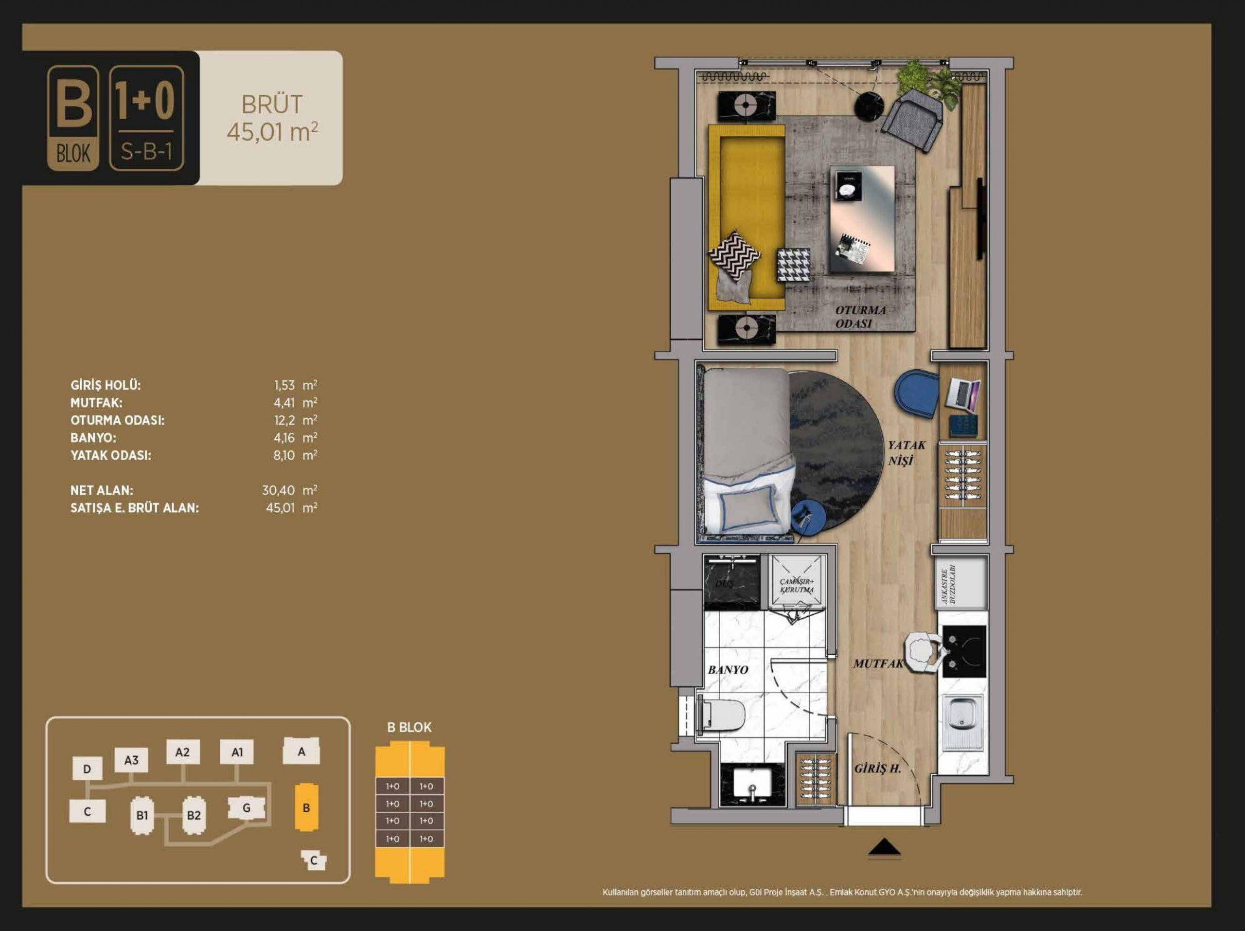 1+0 45 m2